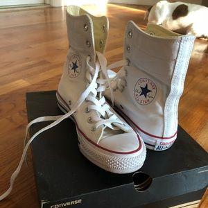 Converse super high top white sneaker